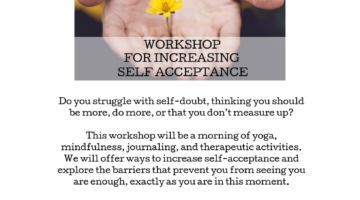 Upcoming workshop- You are enough!